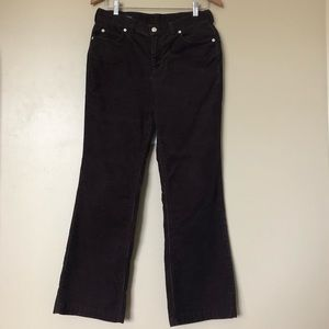 {Lands' End} Chocolate Brown Corduroy Jeans